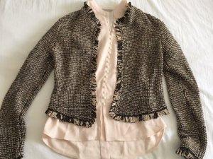 Chanel Jäckchen mit Puderrosa Crepé-Bluse