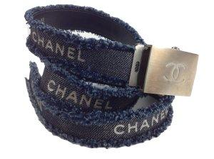 Chanel Jeansgürtel blau Länge 90 Größe 80