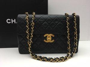 Chanel Borsa con manico nero-oro