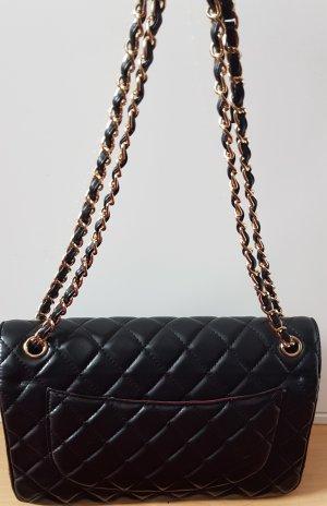 Chanel Bolso negro-color oro