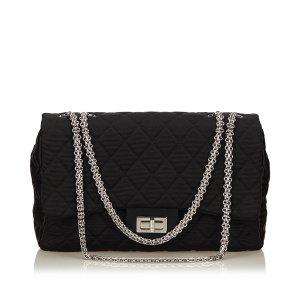 Chanel Borsa a tracolla nero Tessuto misto