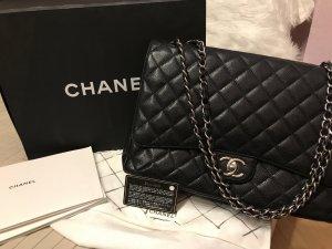 Chanel jumbo silber caviar Tassche