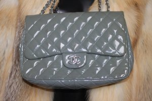 Chanel Carry Bag grey-green grey leather