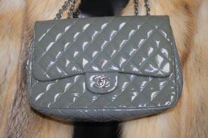 Chanel Sac Baril gris-gris vert cuir