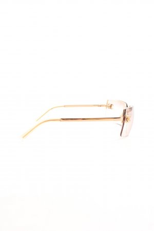 Chanel Square Glasses pink-gold-colored business style