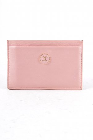 Chanel Card Case light pink classic style