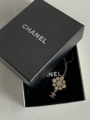 Chanel Cadena de eslabón color plata