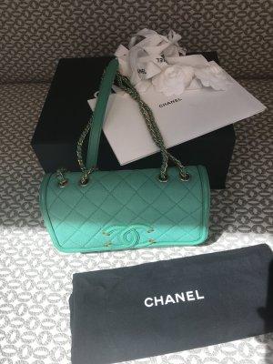 Chanel Klass. Tasche mit Rechnung, Karton & Staubsack