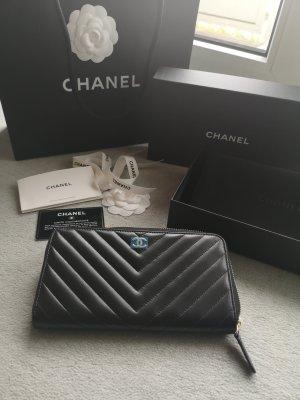 Chanel klassische schwarze Brieftasche *Neu*