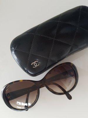 CHANEL Klassische Sonnebrille, braun, ovale Form