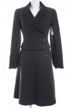 Chanel Kostüm grau-schwarz meliert Business-Look