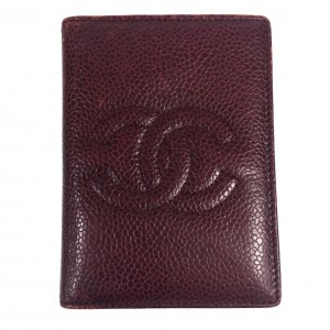 Chanel Kaartetui bordeaux Leer
