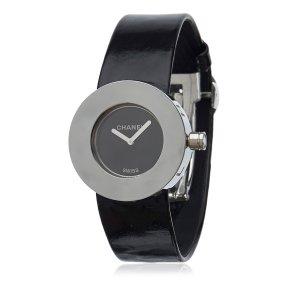 Chanel Reloj color plata Imitación de cuero