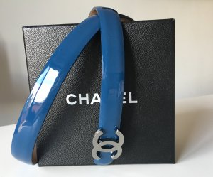 Chanel Leather Belt dark blue leather