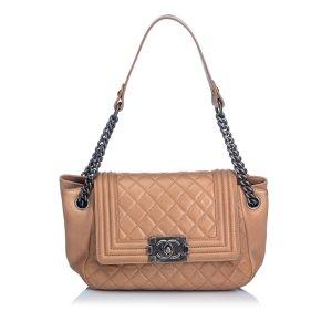 Chanel Lambskin Boy Accordion Flap Bag