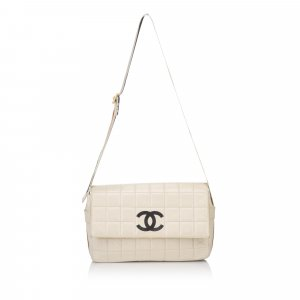Chanel Lambskin Choco Bar Shoulder Bag