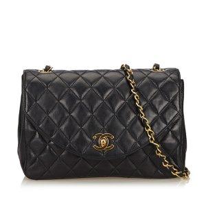 Chanel Lambskin Leather Chain Crossbody Bag