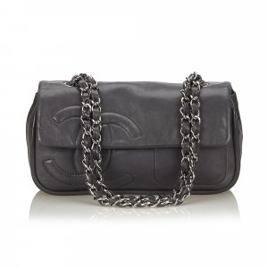 Chanel Lambskin Leather Chain Flap Bag