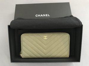 Chanel Wallet khaki leather