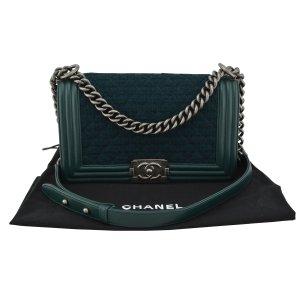 Chanel Le Boy Bag Medium Leather and Tweed