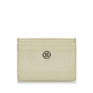Chanel Custodie portacarte bianco Pelle