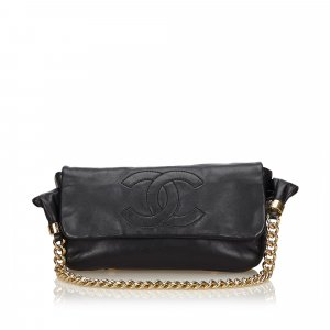 Chanel Leather Chain Flap Bag