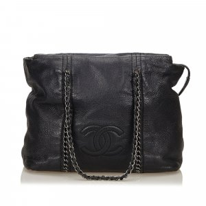 Chanel Leather Chain Tote Bag