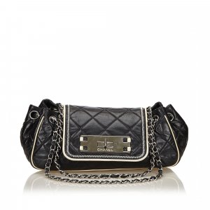 Chanel Leather East West Chain Flap