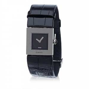Chanel Leather Mademoiselle Watch