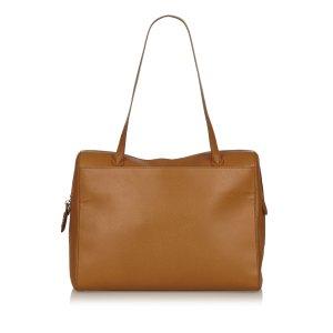 Chanel Bolsa de hombro marrón claro Cuero
