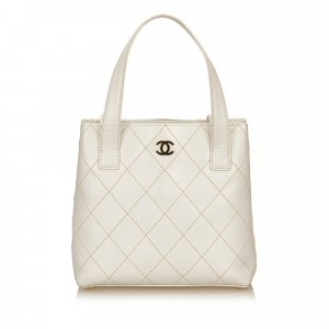 Chanel Leather Surpique Handbag