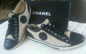 Chanel Sneaker stringata nero-marrone chiaro Pelle