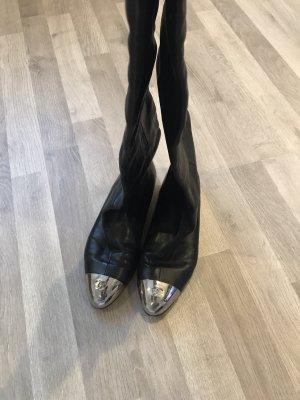 Chanel Botas de equitación negro