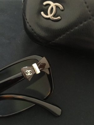 Chanel Glasses black brown-gold-colored