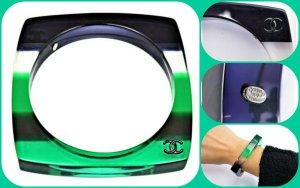 Chanel Limited Edition 2009 Armband Farbe .Grün Sammlerstück Np.479€