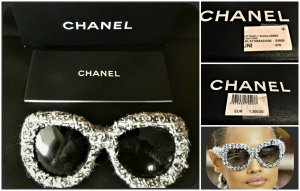 Chanel Oval Sunglasses multicolored mixture fibre