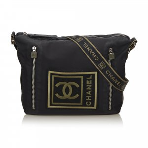 Chanel Logo Nylon Sport Line Crossbody Bag