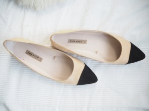 Zara Ballerinas with Toecap beige-black