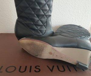 Chanel Luxus Designer quilted Logo Boots Stiefeletten wadenhohe Stiefel Ibiza Slouchy