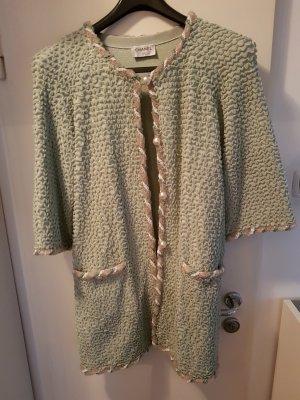 Chanel Abrigo corto verde grisáceo