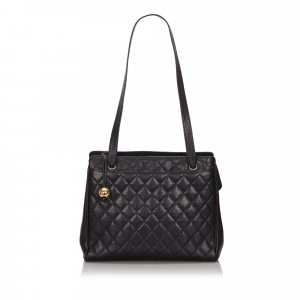 Chanel Shoulder Bag black leather