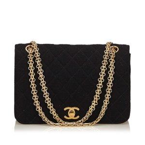 Chanel Matelasse Cotton Flap Chain Bag