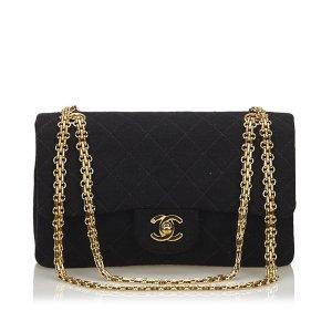 Chanel Borsa a tracolla nero Cotone