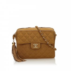 Chanel Matelasse Hemp Tassel Chain Bag