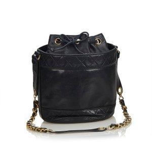 Chanel Matelasse Lambskin Leather Bucket Bag