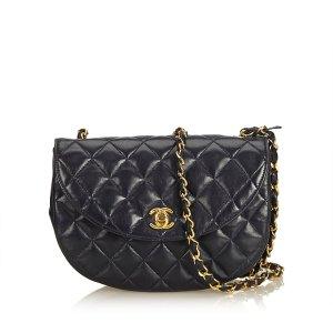 Chanel Borsa a tracolla blu scuro Pelle