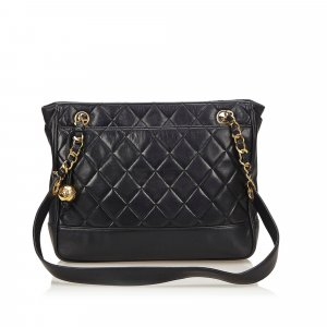 Chanel Matelasse Lambskin Leather Tote Bag