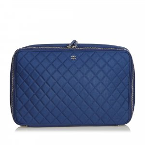 Chanel Bolso business azul Nailon