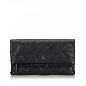 Chanel Matelasse Leather Clutch Bag