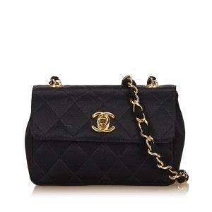 Chanel Schoudertas zwart Viscose